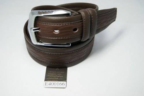 Ремень мужской кожаный классический (коричневый) ALON