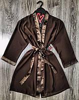 Халаты женские - шифоновый халат под пояс.
