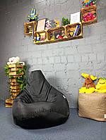 Кресло Мешок Груша 120х85см Ткань Оксфорд Черный