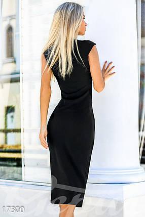 Облегающее платье-миди черного цвета, фото 2