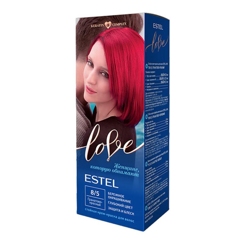 Крем-краска для волос Estel Love Intense New 8/5 Гранатово-красный 100 мл