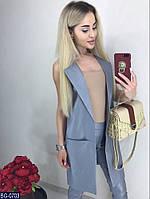 Легкий летний женский костюм большой размер (жилет и брюки)