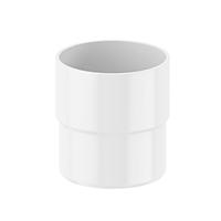 Соединитель трубы Fitt 80мм., цвет белый