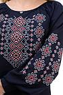 Женская блуза-вышиванка темно-синяя, фото 3