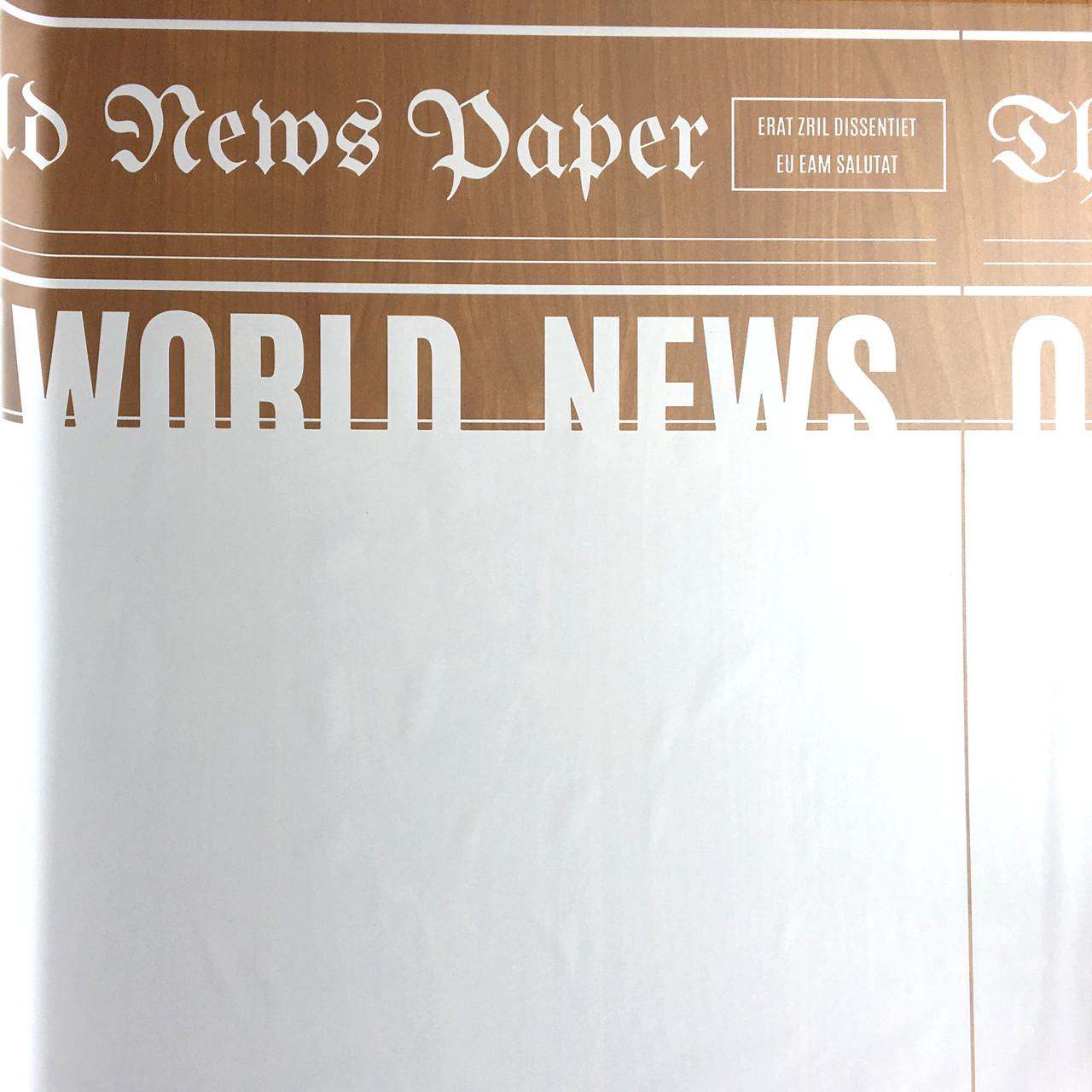 Тонированная пленка матовая (калька) Газета белая 70см х 10м