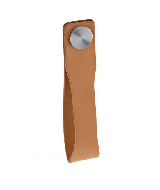 Ручка для раздвижных дверей JNF SR.00.001.С нержавейка/кожа
