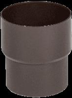 Соединитель трубы Fitt 80мм., цвет коричневый