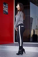 """Лосины женские с кожаными вставками """"Ника"""" арт.208серебро, фото 1"""