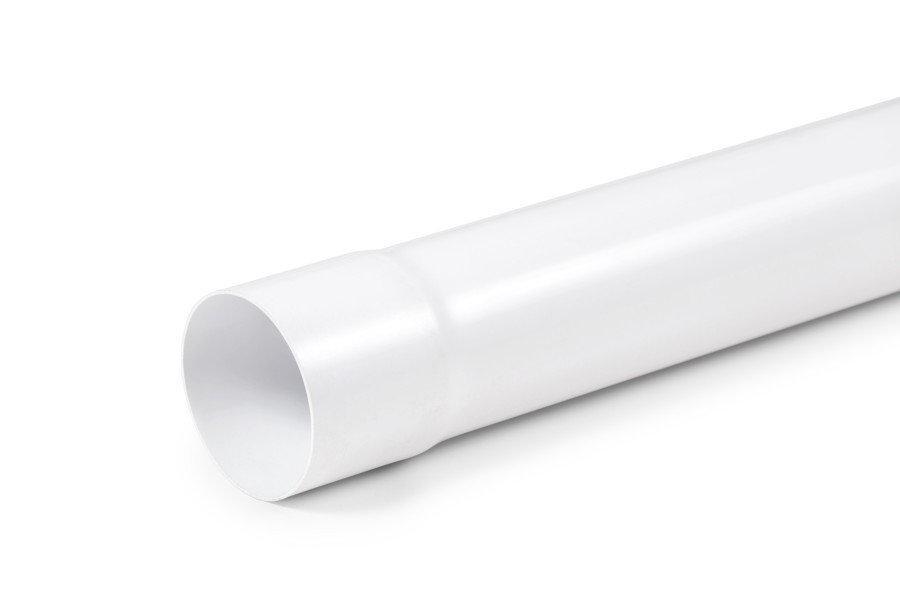 Труба водосточная Fitt Д=80мм, дл.=3000 мм. Цвет белый