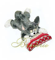 Мягкая игрушка озвученная Кот Том на подушке 29