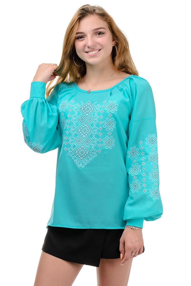 Женская блуза из креп-шифона мята