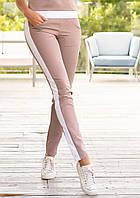 """Женские брюки с широкими белыми лампасами """"Модерн"""""""