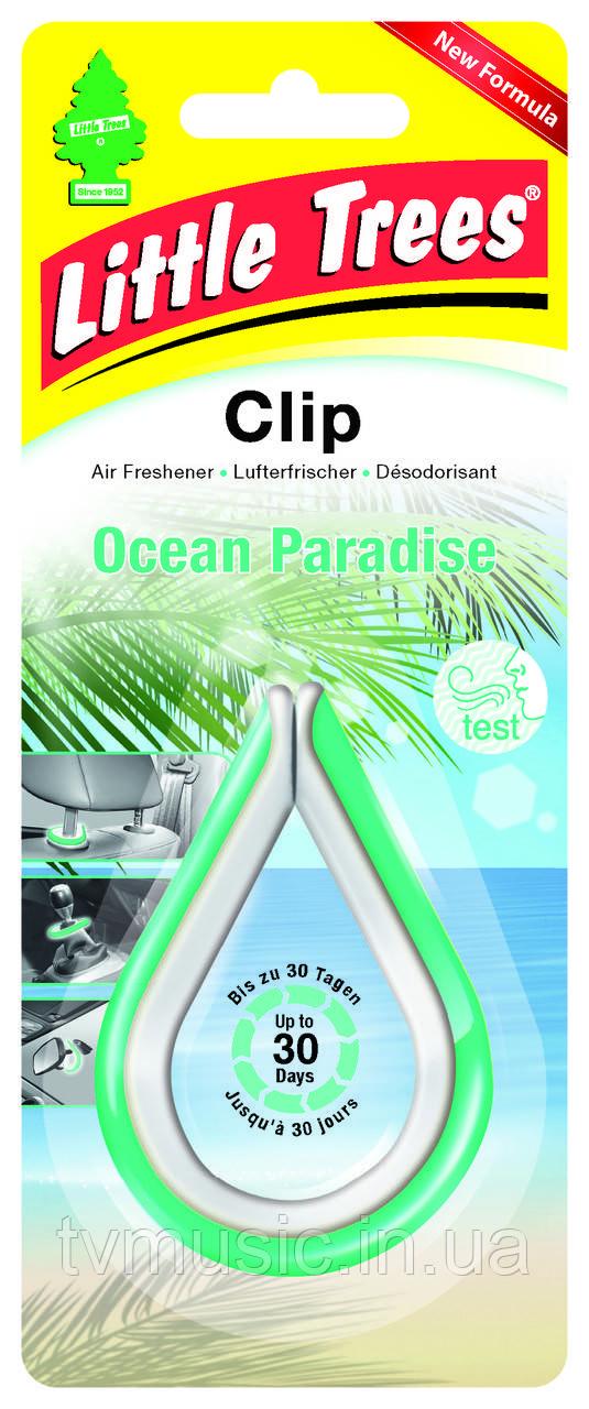 Ароматизатор в машину Little Trees Clip Ocean Paradise / Океанический рай
