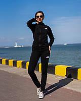 Женский спортивный костюм норма с лампасами THE NORT FACE(реплика) черный