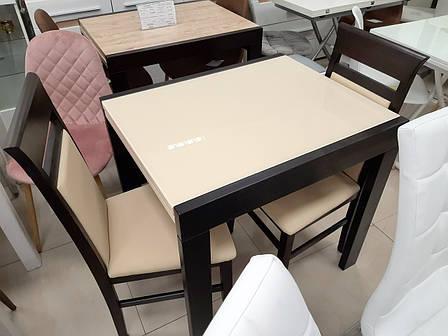 Стеклянный стол на кухню  Слайдер + стекло Fn, цвет на выбор, фото 2