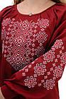 Блуза женская с вышивкой марсала, фото 4