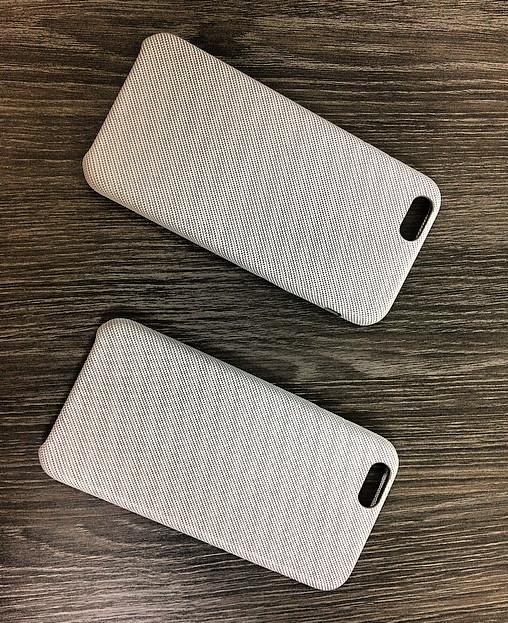 Чехол для iPhone 6 Plus / 6S Plus Серый под ткань
