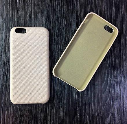 Чехол для iPhone 6 / 6S Бежевый под ткань, фото 2