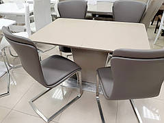 Стол обеденный раскладной в стиле модерн  DALLAS Caramel satin (Даллас) T-7247  Evrodim