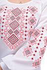 Блуза женская с вышивкой креп-шифон белая, фото 3