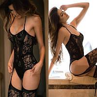 Эротическое женское белье - черное комплект