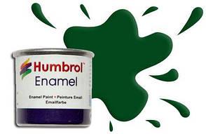 Краска для сборных моделей эмалевая. Зеленая темная глянцевая 14 мл. HUMBROL 003