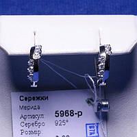 Серьги Полукольца из серебра с цирконием 5968-р, фото 1