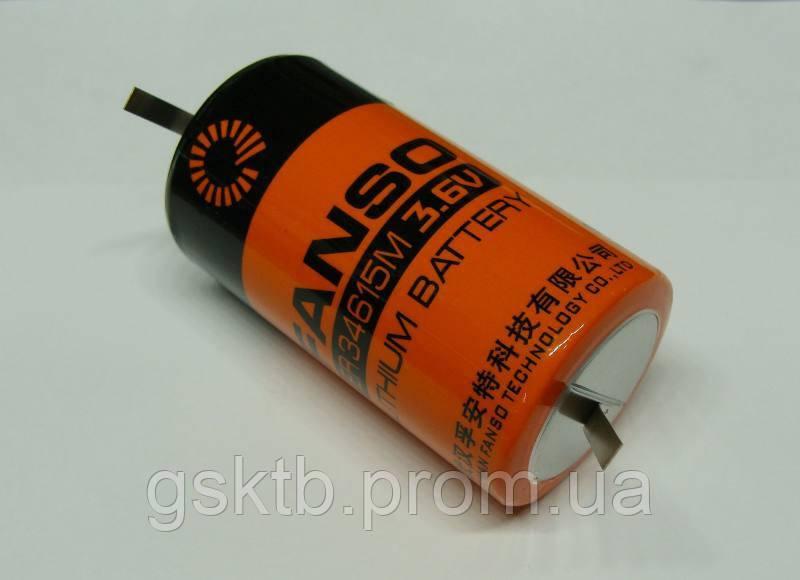 Литиевая батарея ER34615M-T 3,6В 14000 мАч, D Size, Li-SOCl2 с лепестками