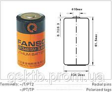 Литиевая батарея ER34615M-T 3,6В 14000 мАч, D Size, Li-SOCl2 с лепестками, фото 3