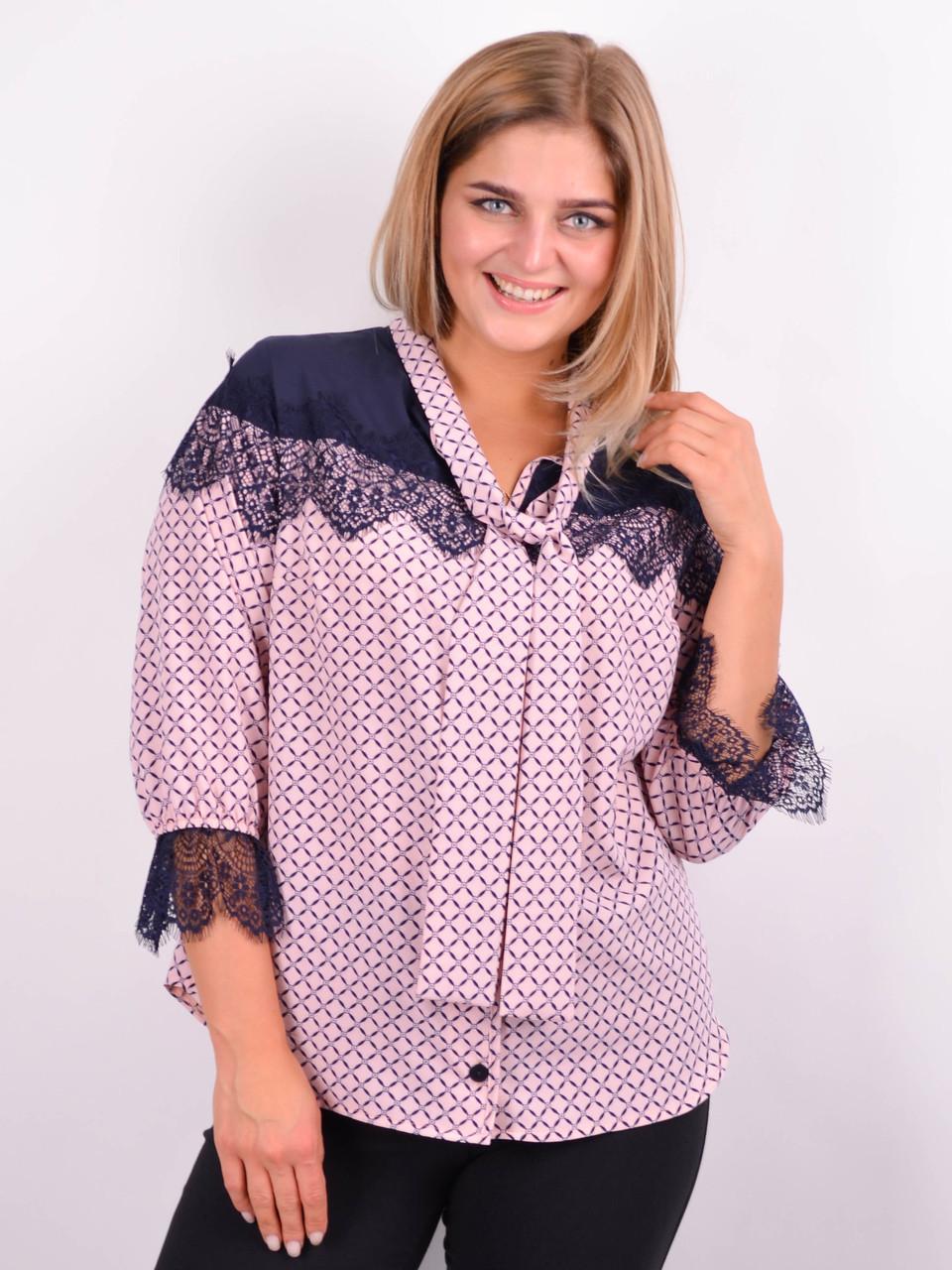 Блузка жіноча колір пудра 50-64