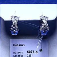 Серьги из родированного серебра 5971-р, фото 1