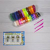 Легкий воздушный пластилин 24 ярких цвета