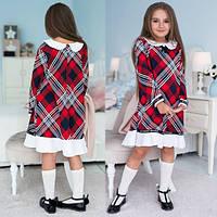 Модное, стильное платье для девочки Клетка