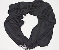 Шарф - шаль, вискоза, черный