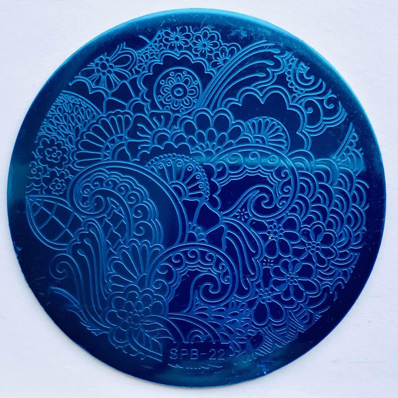 Пластина для стемпинга (круглая)  SPB 22