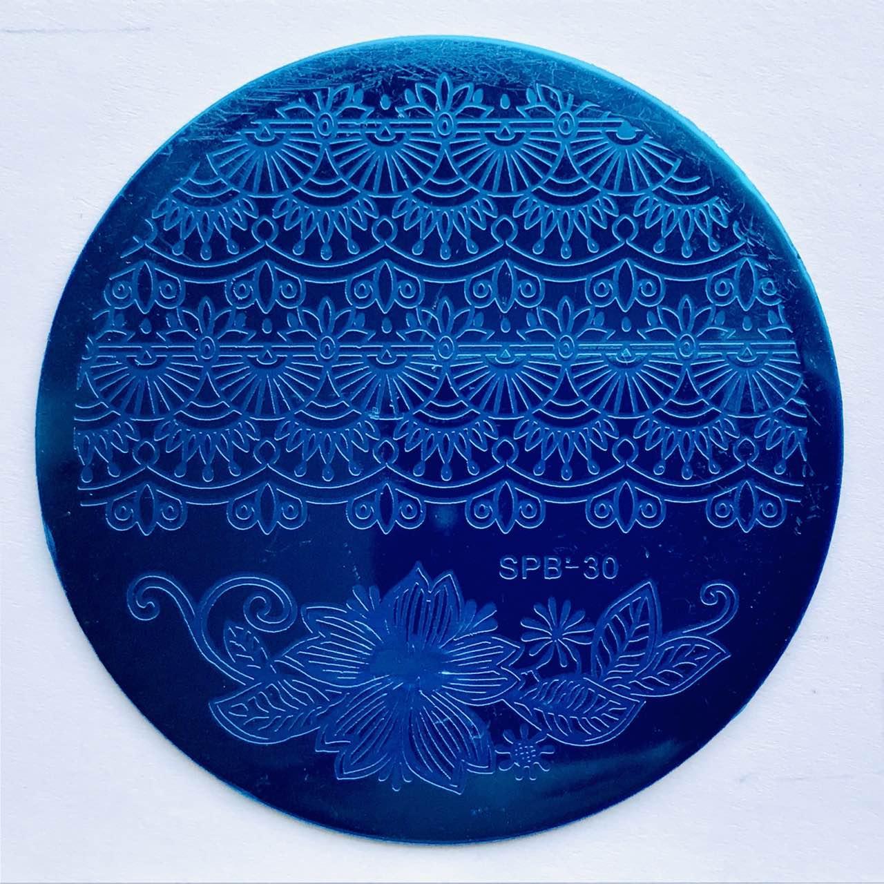 Пластина для стемпинга (круглая)  SPB 30