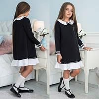 Модное, стильное платье для девочки  с белым воротничком