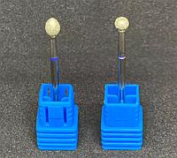 Алмазная насадка для фрезера, синяя насечка, размеры в ассортименте, фото 1