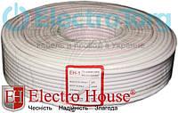 EH-1 TV кабель RG-6U (РК-75) ПВХ белый CCS 1.02 экран 32%  ElectroHouse, фото 1
