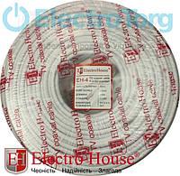 ЕН-4 TV кабель RG-6U (РК-75) ПВХ белый CCS 1.02 экран 100%  ElectroHouse, фото 1