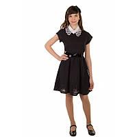 Красивое школьное платье для девочки (воротничок в комплекте)