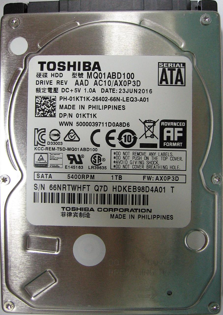 HDD 1TB 5400rpm 8MB SATA II 2.5 Toshiba MQ01ABD100 66NRTWHFTQ7D