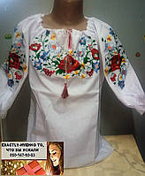 Детская блуза вышиванка для девочки 122, 128