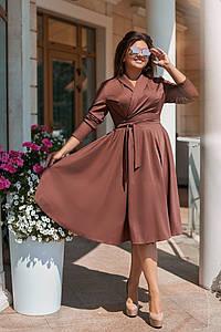 Женское платье на запах, размеры 50-56