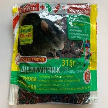 Родентицид Щелкунчик зерно микс, 315 г — готовая к применению приманка для уничтожения крыс и мышей, фото 2