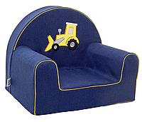 Мягкое кресло в детскую комнату «Экскаватор»