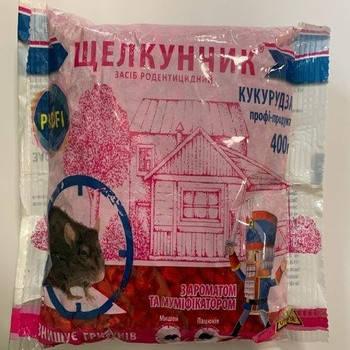 Щекунчик 400 г кукуруза, ПРОФИ, 400 г — готовая к применению приманка для уничтожения крыс и мышей, фото 2