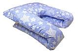 """Большая U-образная подушка для беременных и кормящих """"Морозные цветы"""", фото 2"""