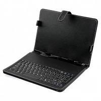 Чехол с клавиатурой для планшета 9 дюймов Black (micro Usb)