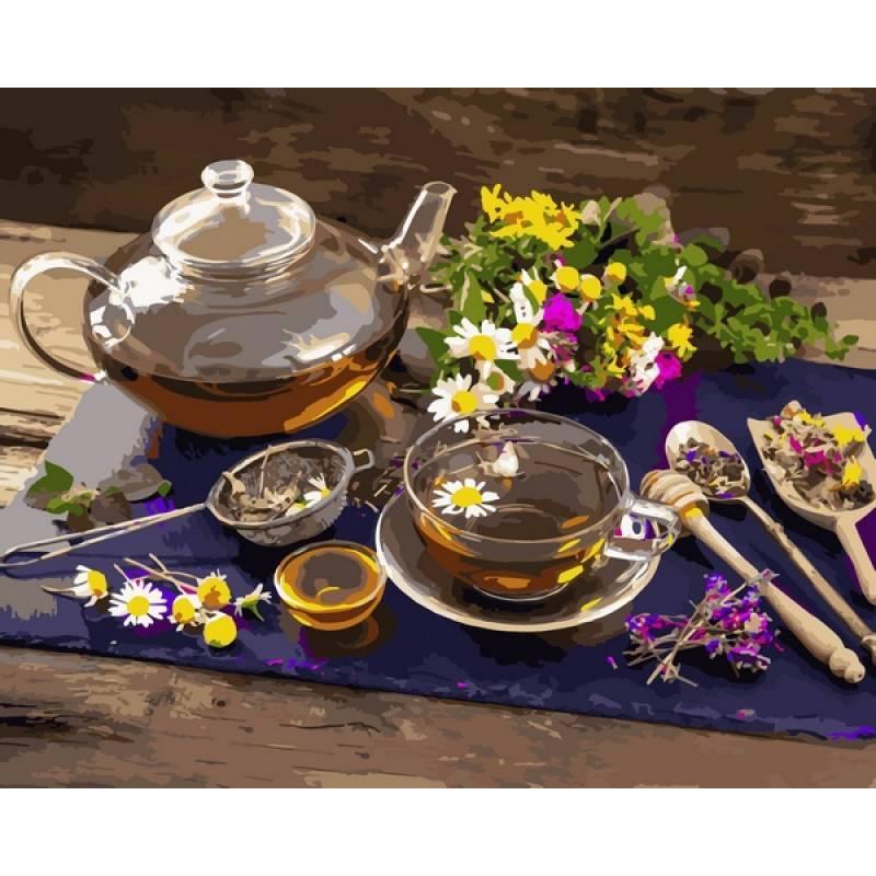 Картина по номерам Травяной чай, 40x50 см., Babylon